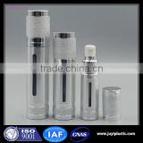 15ml 30ml 50ml aluminium airless bottle for cosmetic lotion cream,80ml 100ml 120ml plastic cosmetic airless pump bottle