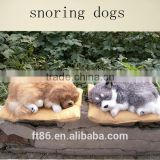 soft toy plush sleeping purring breathing snoring dogs