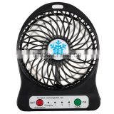 Factory wholsales Rechargeable Mini USB Fan With Battery