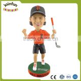 Custom sculpted golfer bobblehead doll toys,customized golfer bobblehead doll sports toys