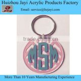 Custom high quality acrylic wedding ring for keychain wholesale