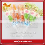 Gelatin Candy Marshmallow Lollipop / Smile Face Jelly Lollipop/ Gummy Jelly Marshmallow Pop