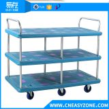 Easyzone 400kgs heavy duty industrial pull cart dolly cart