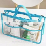 Bag in Bag Tote Transparent Insert Handbag Cosmetic Purse Large Organizer Travel Tidy Bag