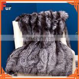 Real Fur Silver Fox Fur Throw