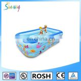 SUNWAY Promotional Custom Made PVC Inflatable Pool For Hildren Big Rectangular Swimming Pool for Children Kids Spa Pool