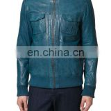 Leather jacket made of soft sheep leather