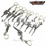 CSGO Weapon Gun Keychain CF AK47 M4A1 Gun Mode Pendant Key Chain Chaveiro Key Holders Key Ring For Men'S Gifts Size 6cm