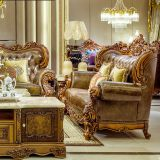 Comfortable luxury wood carving sofa set/solid wood home furniture living room couch