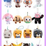 OEM/ ODM  Plush Toy Anime / Hanging Serious plush toy for bag and Mobile Phone