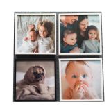 No Glue Residue Removable Reusable Restickable Wall Mount Clear 8x8inch Photo Frame