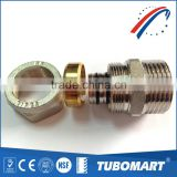 China factory high quality TM-100 male straight screw fitting brass fitting for PAP pipe