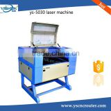 Hot selling laser printing machine for t-shirt laser cutter machine with CE certificate 5030