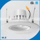 "Led retrofit CRI>90 COB led dimmable 28 degree lens factory outlet 6"" 16w gimbal downlight"