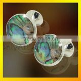 wholesale alibaba make custom cufflink for men shirts, cufflink button with gemston inlaid