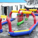 Multi-color Portable inflatable track race for car / Zorb Balls sports games