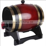 Hot Sale Solid Oak Wood Beer/Wine Barrel With Stainless Steel Bands