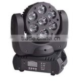 Moving head Led beam light 120W 7*12W RGBW 4 IN 1 Leds 8 degree zoom DMX512 Master-slave/Sound/Auto