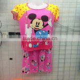 1.83USD Stock Girls Women Wholesale High Quality Cotton Assorted Designs Ladies Sleepwear Pyjamas Shorts Sets ( kckttz005)