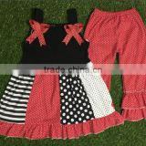 hot sale girls 4th of July boutique summer clothing sets girls July 4th outfits pettiskirt capris outfits kids clothes