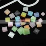 Flatback square shape material Cat's Eye Stone at Best Factory Price #mixed color wholesale 4/6/8mm