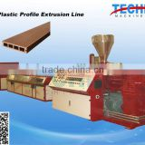 PP PE PVC Wood Plastic Profile Making Machine to Make Floor Fence Furniture