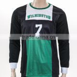 long sleeve NO.7 group black blank sublimation football jersey production