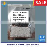 1.25mm Hot Sale Round Hearts and Arrows CZ Gemstones -Machine Cut 5A Cubic Zirconia Gemstone