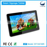 "14"" HD Resolution touch screen lcd all in one digital signage tablet BT1401MR"