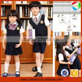 2015 Wholesale european style uniform for school all grades fashion child clothes outfits kids and teen school uniform(ulik-001)