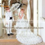 T/R white 5pcs cocktail boys wedding suit