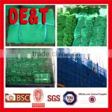 construction material of green hdpe safety net,Factory direct high quality construction scaffolding safety net
