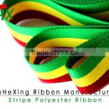 2 Inch Thick Green Yelow Red Three Colors Ethiopia ET Flag Grosgrain Ribbon For Garment Accessories