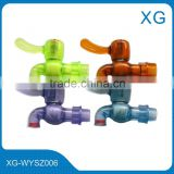 PVC/ABS/PP transparent water tap/Basin drinking water bibcock/plastic colorful water faucet/Kitchen PP transparent water tap/PVC
