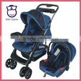 European Blue color baby folding stroller Baby trolly Baby trolley                                                                         Quality Choice