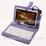 "7"" PU Leather Stand Case Cover with Micro USB Keyboard for 7"" inch Tablet PC PDA"