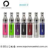wholesale original kanger new dual coils electronic cigarette kanger evod 2 atomizer, full stainless steel drip tips
