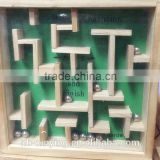 2016 New Mini Wooden Maze Pinball Game Wholesale price Labyrinth Game