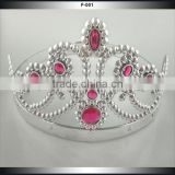 Scalable Trendy Beauty Silver Round Pageant Crowns