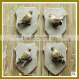 beautiful polyresin bird wall decoration , wall hook wholesale for living room                                                                                                         Supplier's Choice