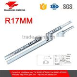 Cabinet Hardware 17mm 2 Fold Mini Telescopic Drawer Channel                                                                         Quality Choice