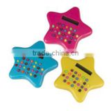 Star Shaped Gift Promotional Small Plastic Calculator