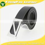2015 NEW famous reversible black microfiber leather man brand belt for jeans