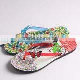 Colorful butterfly flip flops PVC comfortable summer flip flops                                                                                                         Supplier's Choice