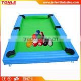 Inflatable Human Pool Table/ Inflatable Billiards Table Football game for sale