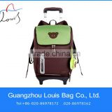 school bag with foot scooter,new design cute trolley school bag,special cute children backpack