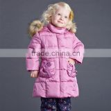 DB2946 dave bella 2015 winter infant coat baby padded jacket girls padded coat girls down coat down jacket