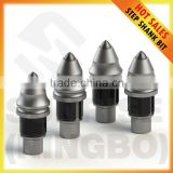Foundation drilling tools tungsten carbide tipped rotary cutter round shank piling auger drill bit