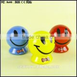 smile face 9 inch customized coin bank,plastic 9 inch coin bank,coin bank China supplier baby toys