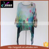 China handmade dye painting 100% silk tunics top                                                                         Quality Choice